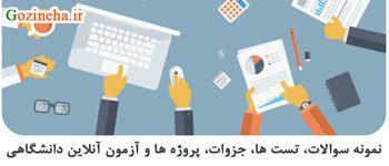 دانلود نمونه سوالات افكار سیاسی در ایران و جهان اسلام علوم سیاسی و روابط بین الملل با پاسخ